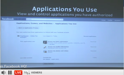 applications you use Recording & Outlined Notes of Facebooks Live Event   10/6/10